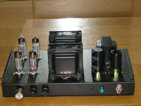 50BM8パラシングル、自作真空管アンプ