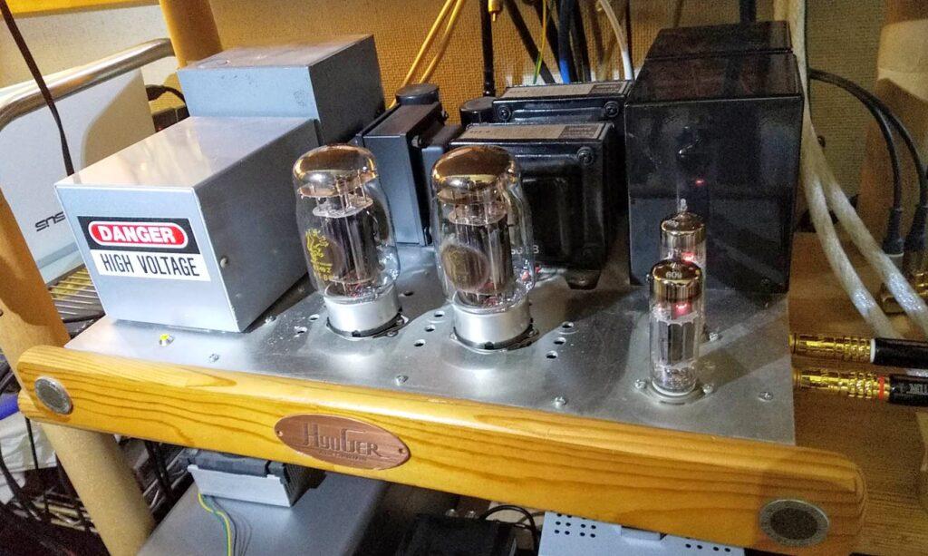 6BM8、KT88三結トランス結合シングルアンプ完成